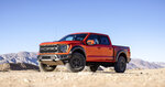 This photo provided by Ford Motor Company shows the 2021 Ford F-150 Raptor. More than just an upgraded F-150, the Raptor is a re-worked version of the full-size pickup truck that has a go-anywhere, do-anything attitude. (Courtesy of Ford Motor Co. via AP)