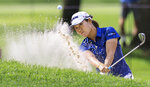 Nasa Hataoka hits out of a trap on the No. 17 hole during the second round the LPGA Marathon Classic golf tournament Friday, July 9, 2021, at Highland Meadows in Sylvania , Ohio. (Jeremy Wadsworth/The Blade via AP)