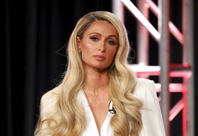 Paris Hilton speaks at the