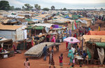 FILE - This Sunday, May 14, 2017 file photo shows the U.N. Protection of Civilians camp in Wau, South Sudan. The United Nations peacekeeping mission in South Sudan said on Friday, Sept. 4, 2020 that it has begun withdrawing its troops and police from the protection of civilians camps that continue to shelter more than 180,000 people two years after the end of the country's civil war. (AP Photo, File)