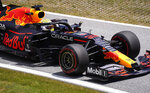 Red Bull driver Max Verstappen of the Netherlands steers his car during the third practice at the Red Bull Ring racetrack in Spielberg, Austria, Saturday, June 26, 2021. The Styrian Formula One Grand Prix will be held on Sunday, June 27, 2021. (AP Photo/Darko Vojinovic)