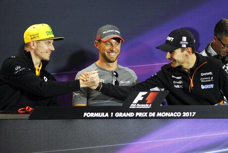 Esteban Ocon, Nico Hulkenberg, Jenson Button