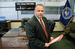 This Wednesday Nov. 28, 2018 photo shows James N. Hendricks, the new special agent-in-charge of the FBI field office headquarters in Albany, NY. Hendricks quietly retired in 2020 as a special agent in charge after the Office of Inspector General — the Justice Department's internal watchdog — concluded he sexually harassed eight female subordinates in one of the FBI's most egregious known cases of sexual misconduct. (John Carl D'Annibale/The Albany Times Union via AP)