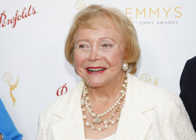 "This Aug. 26, 2015 photo released by the Television Academy shows Lee Phillip Bell at the Television Academy's 67th Emmy Daytime Peer Group Celebration in Beverly Hills, Calif. Bell, who co-created ""The Young and the Restless"" and ""The Bold and the Beautiful"" and hosted her own daytime talk show in Chicago for 33 years, died Tuesday, Feb. 25, 2020 at her home in Los Angeles. She was 91. (Danny Moloshok/Invision for the Television Academy via AP)"