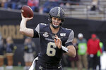 Vanderbilt quarterback Riley Neal passes against ETSU in the first half of an NCAA college football game Saturday, Nov. 23, 2019, in Nashville, Tenn. (AP Photo/Mark Humphrey)
