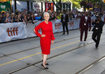Actress Jamie Lee Curtis walks the street for photographs on the red carpet for the new movie