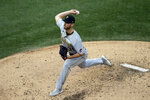 Pittsburgh Pirates relief pitcher Chad Kuhl throws against the Chicago Cubs during the fourth inning of a baseball game in Chicago, Sunday, Aug. 2, 2020. (AP Photo/Nam Y. Huh)