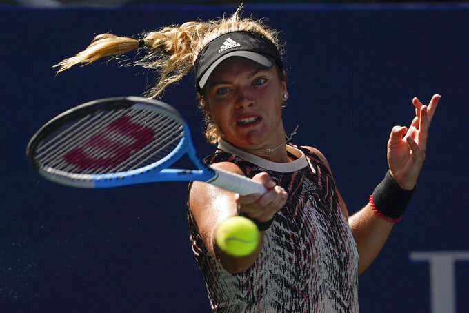 The Latest: Andreescu stays unbeaten at US Open with victory
