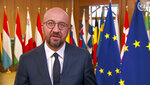 In this image made from UNTV video, Charles Michel, President of the European Council, European Union, speaks in a pre-recorded message which was played during the 75th session of the United Nations General Assembly, Friday, Sept. 25, 2020, at UN headquarters, in New York. (UNTV via AP)