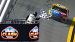 Kyle Busch (18) takes the checkered flag to win the NASCAR Daytona Clash auto race Tuesday, Feb. 9, 2021, at Daytona International Speedway in Daytona Beach, Fla. (AP Photo/Chris O'Meara)