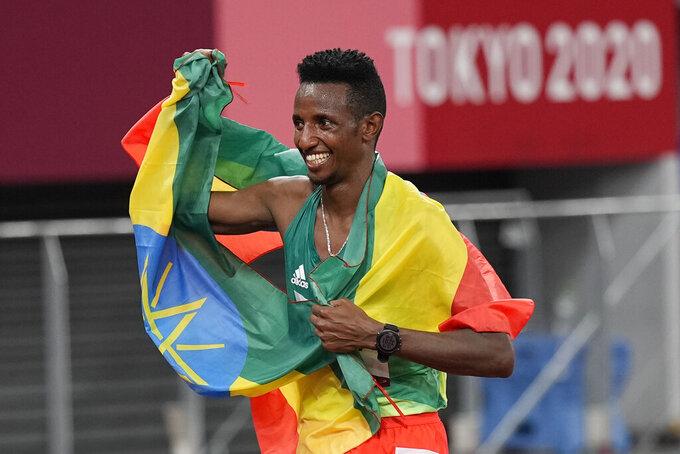 Ethiopia's Barega wins 1st track gold of Tokyo Olympics
