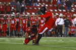Texas Tech's Jonathan Garibay (46) kicks the winning field goal during the second half of an NCAA college football game against Baylor, Saturday, Nov. 14, 2020, in Lubbock, Texas. (Brad Tollefson/Lubbock Avalanche-Journal via AP)