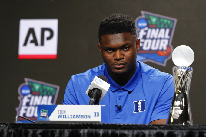 Duke's Williamson wins AP men's college player of the year