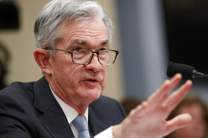 Federal Reserve Board Chair Jerome Powell testifies to the House Budget Committee, Thursday, Nov. 14, 2019, on Capitol Hill in Washington. (AP Photo/Jacquelyn Martin)