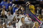 Oregon State wide receiver Isaiah Hodgins (17) catches a pass for a touchdown against UCLA during the second half of an NCAA college football game Saturday, Oct. 5, 2019, in Pasadena, Calif. (AP Photo/Marcio Jose Sanchez)