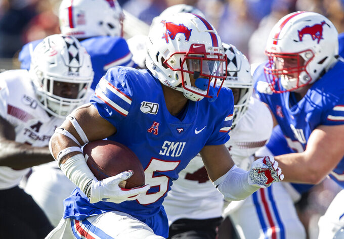 Buechele sets career marks as unbeaten SMU tops Temple 45-21