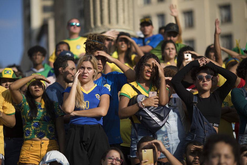 Brazil Soccer WCup Fans