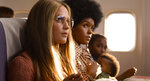 This image released by LD Entertainment and Roadside Attractions shows Alicia Vikander as Gloria Steinem, left, and Janelle Monae as Dorothy Pitman Hughes in a scene from