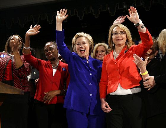HIllary Clinton,  Gabby Giffords,  Chirlane McCray