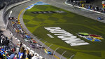Drivers take the green flag to start the NASCAR Daytona Clash auto race Tuesday, Feb. 9, 2021, at Daytona International Speedway in Daytona Beach, Fla. (AP Photo/Chris O'Meara)