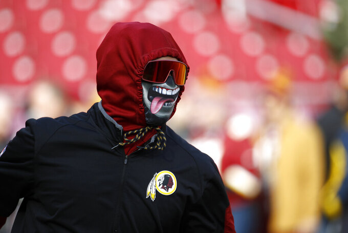 Washington Redskins free safety Montae Nicholson works out prior to an NFL football game against the New York Giants, Sunday, Dec. 22, 2019, in Landover, Md. (AP Photo/Patrick Semansky)