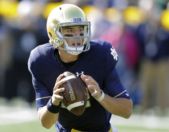 Book it! Kelly, Irish like what they've seen in returning QB