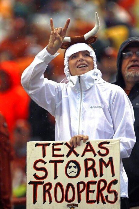Texas Fan in the Rain
