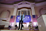 Democratic presidential candidate Sen. Elizabeth, D-Mass., speaks at a town hall campaign event, Monday, Feb. 10, 2020, in Portsmouth, N.H. (AP Photo/Robert F. Bukaty)
