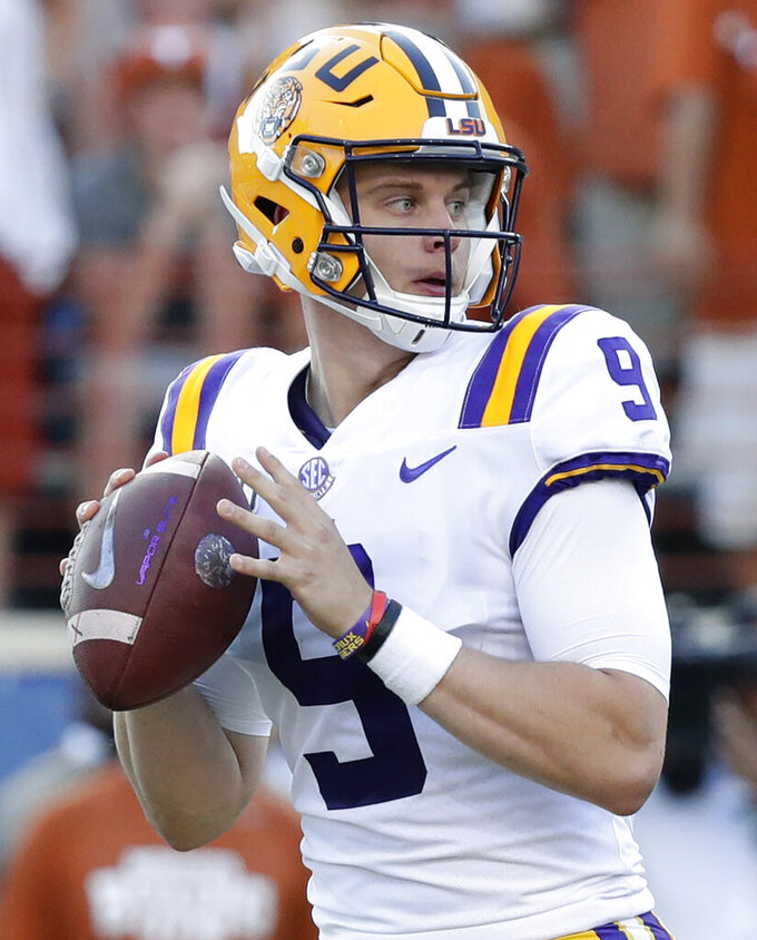 No. 1 LSU visits No. 2 Alabama in SEC West/playoff showdown
