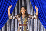 Actress Gina Torres appears at the tournament house in Pasadena, Calif., on Tuesday, Oct. 15, 2019 where it was announced that she will join Olympic gymnast Laurie Hernandez and actress Rita Moreno as Grand Marshals for the 2020 Pasadena Tournament of Roses Parade. (David Crane/The Orange County Register via AP)