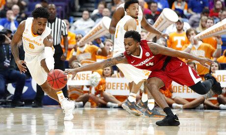 APTOPIX SEC Arkansas Tennessee Basketball