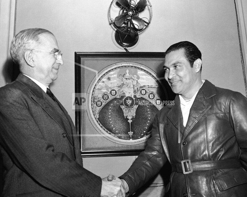Watchf Associated Press     APHS178174 Cuba Batista And Messersmith 1941
