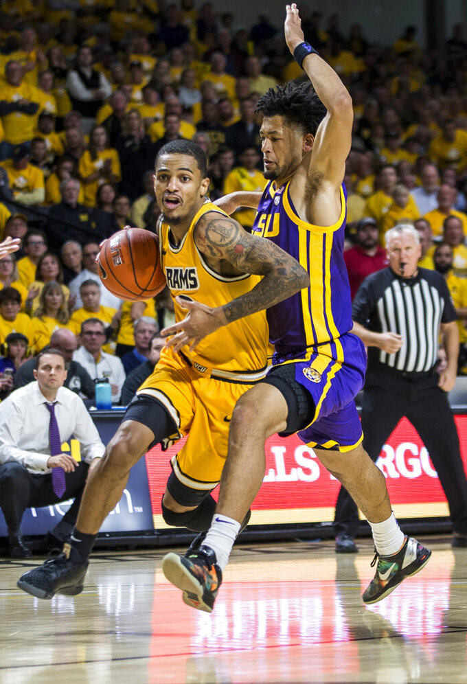 Santos-Silva, defense lead VCU past No. 23 LSU, 84-82