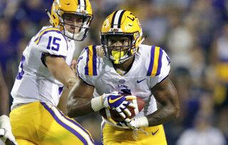 LSU Unproven Backfield Football