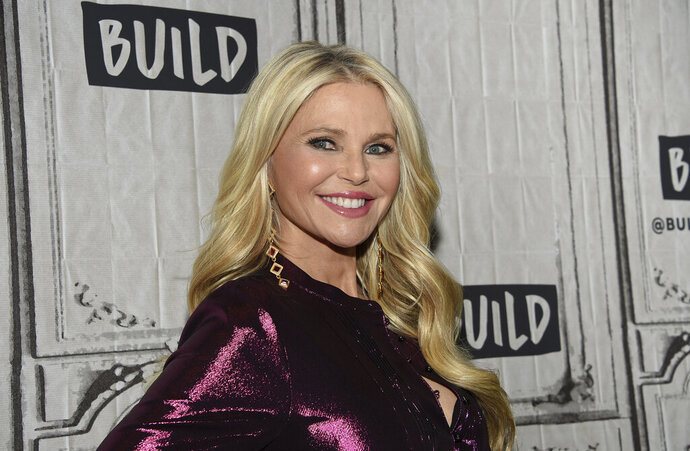 FILE - In this Jan. 29, 2019, file photo, model Christie Brinkley participates in the BUILD Speaker Series to discuss the
