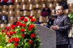 U.S. Senator Doug Jones gives words of comfort during the memorial service for slain Lowndes County Sheriff