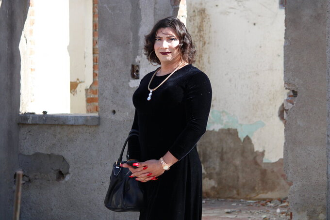 This photo provided by the International Rescue Committee shows Susana Coreas, a transwoman who fled El Salvador, is seen in Ciudad Juarez, Mexico, on March 24, 2021. Coreas was allowed into the United States in May after she was determined to be particularly vulnerable waiting in Mexico and given an exemption to federal pandemic-related powers that have prevented many from seeking asylum. A new effort by the Biden administration that is under pressure to lift the order is ramping up exemptions to the policy. (International Rescue Committee via AP)