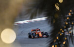 Ferrari driver Sebastian Vettel of Germany steers his car during the qualifying session at the Formula One Bahrain International Circuit in Sakhir, Bahrain, Saturday, March 30, 2019. The Bahrain Formula One Grand Prix will take place on Sunday. (AP Photo/Hassan Ammar)