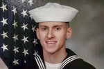 This undated photo released by the U.S. Navy shows Hospital Corpsman 3rd Class Bailey J. Tucker, 21, from St. Louis, Mo. Tucker was one of five sailors who died when an MH-60S helicopter crashed in the Pacific Ocean on Aug. 31, 2021, about 70 miles (112 kilometers) off San Diego during what the Navy described as routine flight operations. It was operating from the deck of the aircraft carrier USS Abraham Lincoln. (Petty Officer 1st Class David Mora/U.S. Navy via AP)