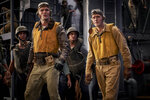 This image released by Lionsgate shows Ed Skrein, left, and Luke Kleintank in a scene from