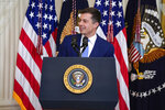 Transportation Secretary Pete Buttigieg speaks during an event to commemorate Pride Month, in the East Room of the White House, Friday, June 25, 2021, in Washington. (AP Photo/Evan Vucci)