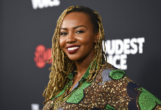 """FILE - In this June 24, 2019, file photo, Black Lives Matter co-founder Opal Tometi attends the premiere of the ShowTime limited series """"The Loudest Voice"""" at the Paris Theatre in New York. Several years since its founding, BLM has evolved well beyond the initial aspirations of its early supporters. Tometi was one of the three women who founded BLM. (Photo by Evan Agostini/Invision/AP, File)"""