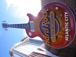 This Jan. 16, 2020 photo shows the giant guitar at the entrance to the Hard Rock casino in Atlantic City N.J. On May 3, 2021, Hard Rock officials told The Associated Press they will spend $20 million on renovations, the latest in a line of Atlantic City casinos to reinvest during the coronavirus pandemic. (AP Photo/Wayne Parry)
