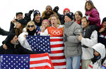 Shaun White, of the United States, celebrates winning gold after the men's halfpipe finals at Phoenix Snow Park at the 2018 Winter Olympics in Pyeongchang, South Korea, Wednesday, Feb. 14, 2018. (AP Photo/Lee Jin-man)