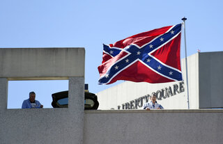 NCAA Greenville Confederate Flag Basketball