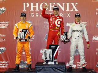 Scott Dixon,  Simon Pagenaud, Will Power