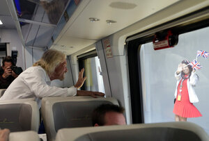 Correction: Florida Train Service-Branson story