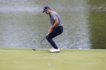 Will Gordon reacts after missing a putt on the 15th green during the final round of the Travelers Championship golf tournament at TPC River Highlands, Sunday, June 28, 2020, in Cromwell, Conn. (AP Photo/Frank Franklin II)