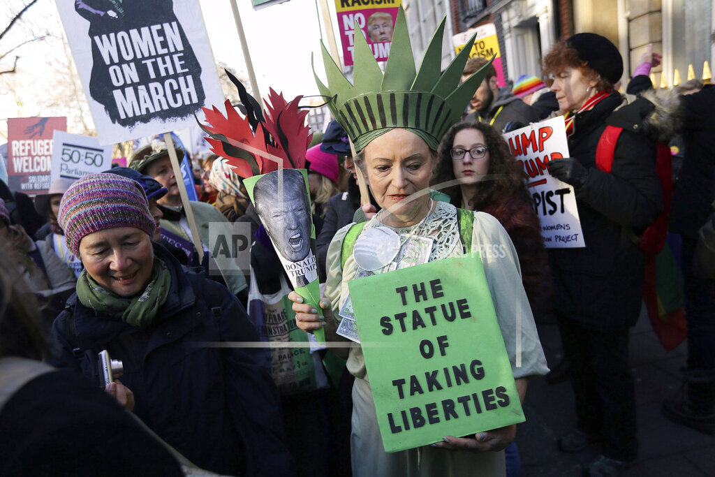 APTOPIX Britain Women's March
