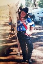 This undated photo provided by the family in 2019 shows Tanna Jo Fillmore as a girl. Jo-Jo or TJ, as her family called her, competed in rodeo barrel races while growing up in Utah. Fillmore, who had a history of mental problems, killed herself in 2016 at the Duchesne County Jail. Her mother, who has filed suit, says her daughter was denied her prescription medications and had threatened to harm herself when they spoke the day before her death. (Courtesy Melany Zoumadakis via AP)